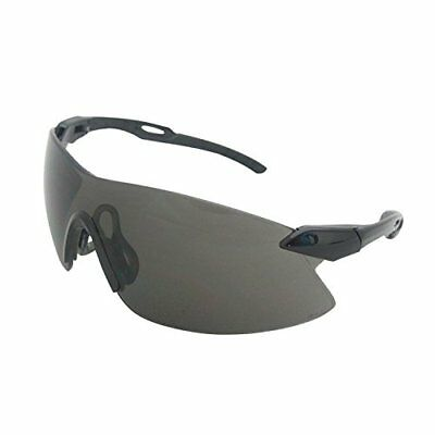 ERB 15421 Strikers Safety Glasses, Black Frame with Smo