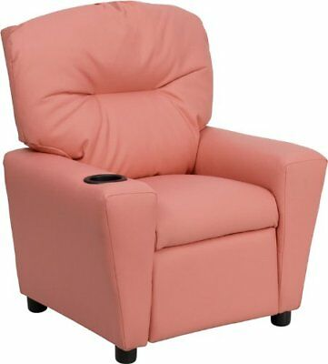 Flash Furniture Contemporary Pink Vinyl Kids Recliner w