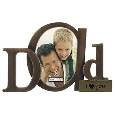 Malden International Designs Bronze Script Dad Picture
