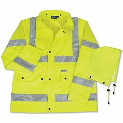 ERB 61485 S371 Class 3 Raincoat, Lime, 4X-Large