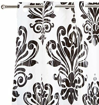 Carnation Home Fashions Beacon Hill Black and White EZ-