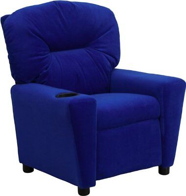Flash Furniture Contemporary Blue Microfiber Kids Recli