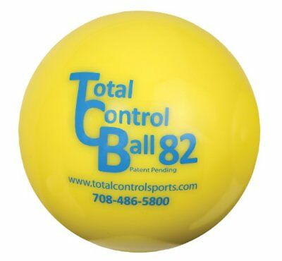 Total Control Sports Batting Ball (Pack of 6), Yellow