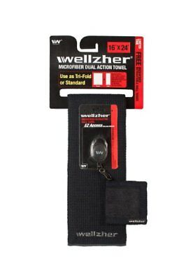 "Wellzher Premium Microfiber Dual-Action Golf Towel 16""x"