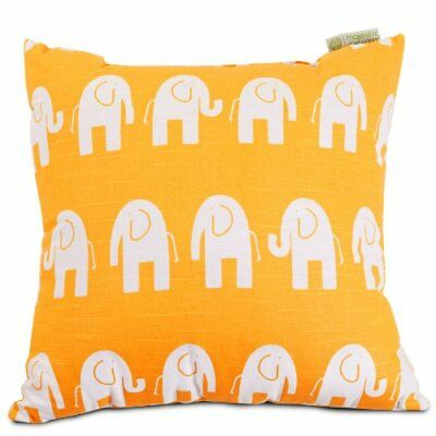 Majestic Home Goods Ellie Pillow, Large, Yellow