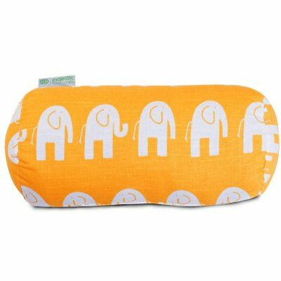 Majestic Home Goods Ellie Round Bolster, Yellow