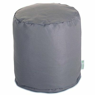 Majestic Home Goods Pouf, Small, Solid, Gray