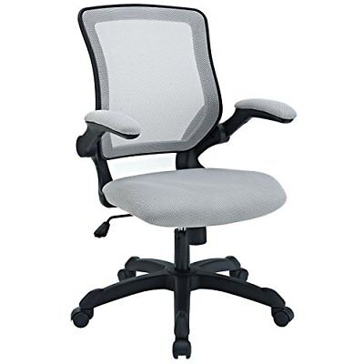 Modway Veer Office Chair with Mesh Back and Gray Vinyl