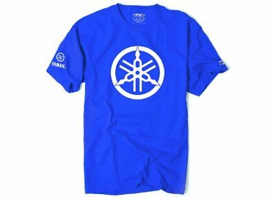 Factory Effex 'YAMAHA' 2D Tuning Fork T-Shirt (Royal, X