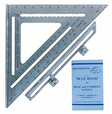 Swanson Tool S0107 12-Inch Speed Square Layout Tool wit