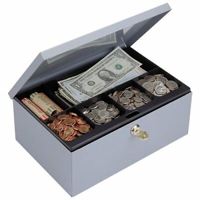 STEELMASTER Low Profile Steel Cash Box with Security Lo