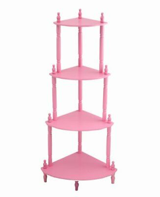 Frenchi Home Furnishing Kid's 4-Tier Shelves, Pink