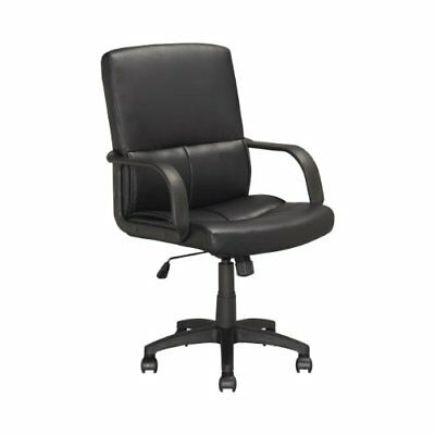 CorLiving LOF-308-O Executive Office Chair, Black Leath