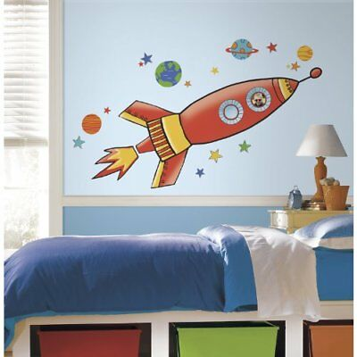 RoomMates RMK2619GM Rocket Peel and Stick Giant Wall De