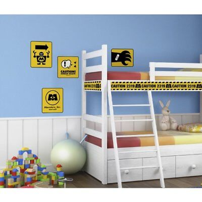 RoomMates RMK2557GM Monsters  Caution Signs Peel and St