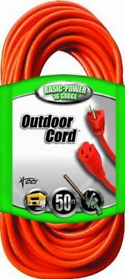 Coleman Cable 02308 16/3 Vinyl Outdoor Extension Cord,