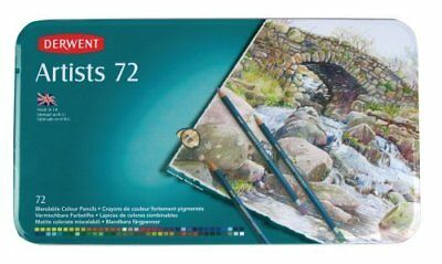 Derwent Artists Colored Pencils, 4mm Core, Metal Tin, 7