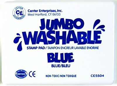 Center Enterprise CE5504 Jumbo Washable Stamp Pad, Blue