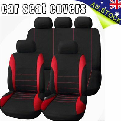 Red Universal Car Seat Covers 1 Set Advanced Cover Seasons General 5 Seats AUE