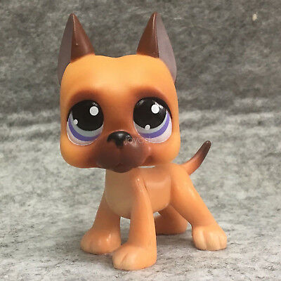 Littlest Pet Shop LPS Figure Toys #244 Great Dane Dog