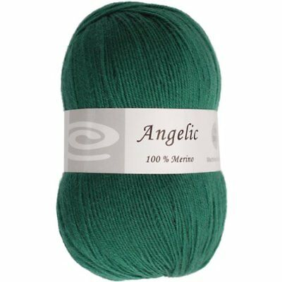Elegant Yarns Angelic Yarn, Forest Green