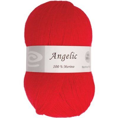 Elegant Yarns Angelic Yarn, Christmas Red