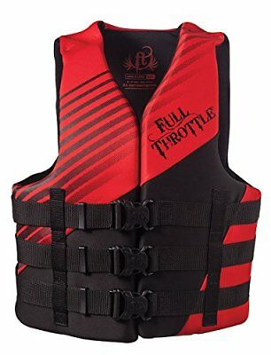 Full Throttle Adult Dual Sized Rapid Dry Life Vest, Red