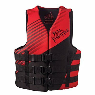 Full Throttle Men's Dual Sized Rapid Dry Life Vest, Red