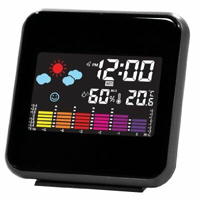 weather forecast clock digital display LED color temper