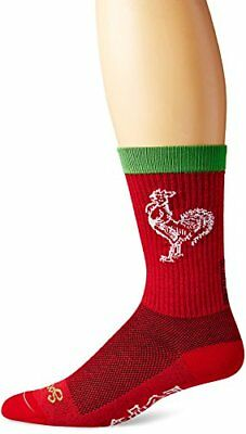 SockGuy Men's Sriracha Crew Sock, Red, Sock Size:10-13/