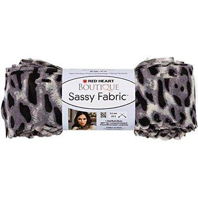 Red Heart Boutique Sassy Fabric Yarn-Snow Leopard