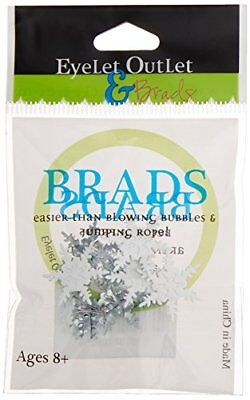 Eyelet Outlet Shape Brads, Snowflakes, 12-Pack