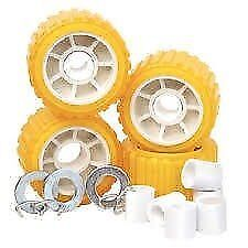 "Tie Down 86144 Amber 5"" PVC Ribbed Wobble Roller Kit"