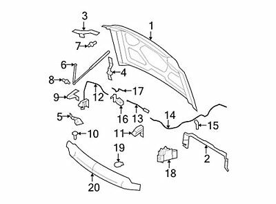 Genuine Ford 8C3Z-16916-A Hood Control Cable Assembly
