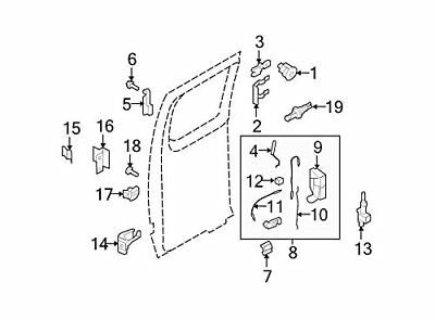 Genuine Ford F2UZ-15266A46-A Hood Release Cable Assembl