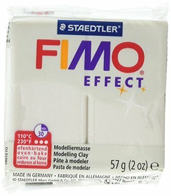 Fimo Soft Polymer Clay 2 Ounces-8020-08 Metallic Pearl