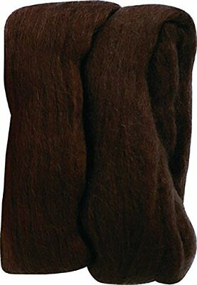 Clover Natural Wool Roving, Brown