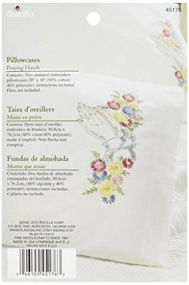Bucilla Stamped Embroidery Pillow Case Pair Kit, 20 by