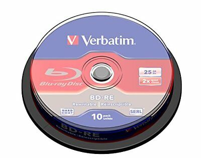 Verbatim BD-RE 25GB 2X with Branded Surface - 10pk Spin