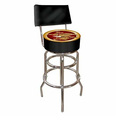 Anheuser Busch Padded Swivel Bar Stool with Back