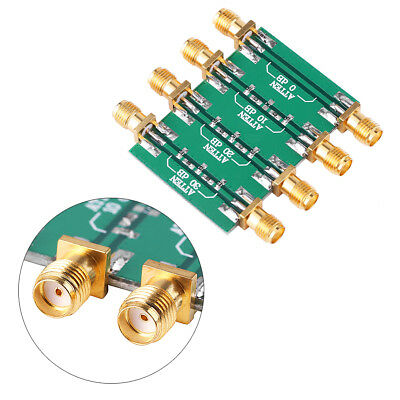 DC--4.0GHz RF Frequency Fixed Attenuator Low SWR Impedance 50Ω SMA Double Female