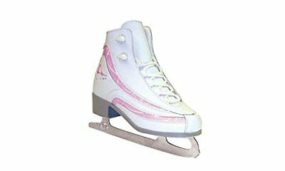 American Athletic Shoe Girl's Soft Boot Ice Skates, Whi