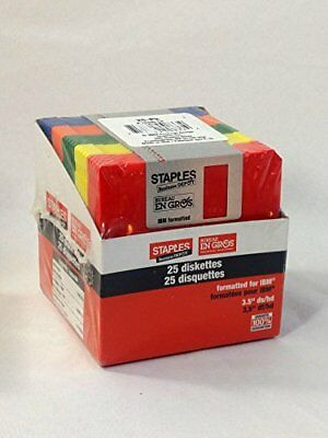 3.5 Inch Diskettes, 25 Pack, 1.44 MB, IBM Formatted by