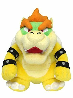 "Sanei Super Mario All Star Collection 10"" Bowser Plush,"
