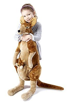 Melissa & Doug Giant Kangaroo and Baby Joey in Pouch -