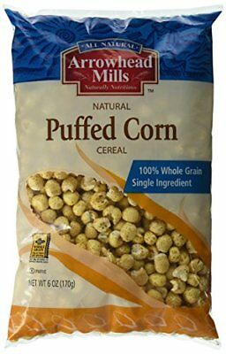 Arrowhead Mills Cereal, Puffed Corn, 6 Ounce (Pack of 1