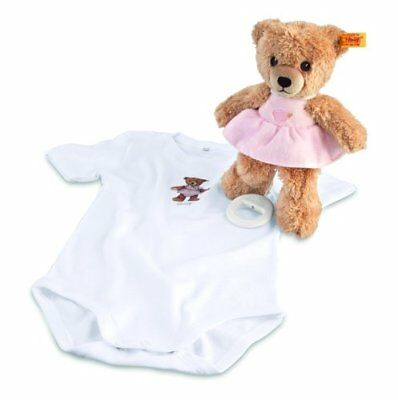 Steiff Sleep Well Bear Music Box Gift Set, Pink, 8""