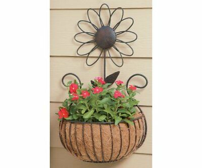 Deer Park WB135 Daisy Wall Basket with Cocoa Moss Liner