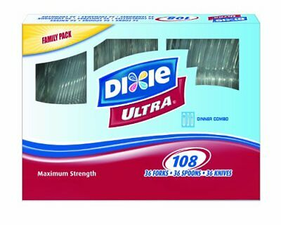 Dixie Ultrastrong Cutlery Value Pack Combo, 108-Count (