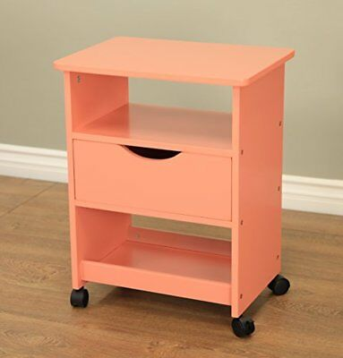 Frenchi Home Furnishing Rolling Cart with Drawer, Orang